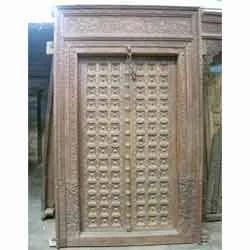 Antique Carved Wood Door