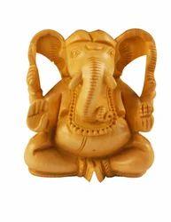 Wooden Ganesh Figure