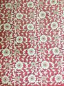 Maroon Color Velvet Embroidery Fabric