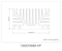 126x70mm Heat Sink