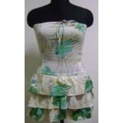 Ladies Bustier 2 Layers Frilled Dress