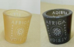 Printed Africa Glass Candle Holder