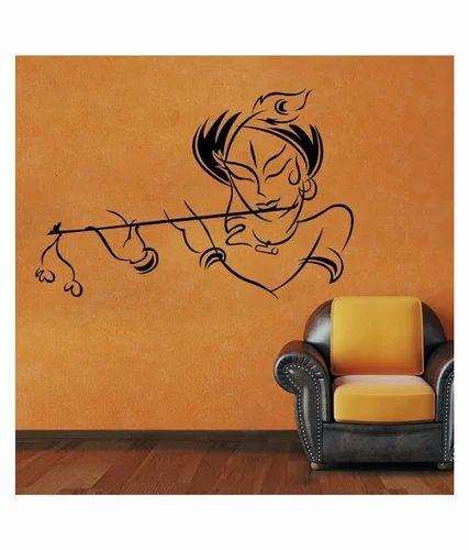 destudio black krishna wall sticker - estockyy a unit of animus