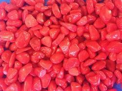 Red Aquarium Pebbles