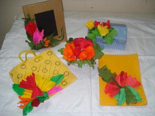 Paper Flowers Making Classes In Indore Saket Nagar By Kala Ashram