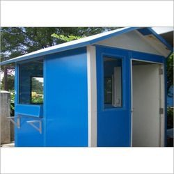 Color Coated PVC Portable Security Cabin