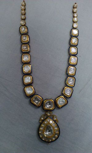 fashionworldhub necklace necklacce peacock uncut diamond