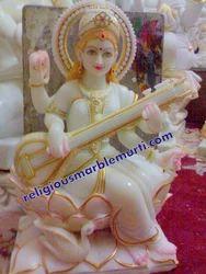 Saraswati Mata Marble Idol