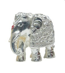 Silver Plated Elephant Size 6 Statues
