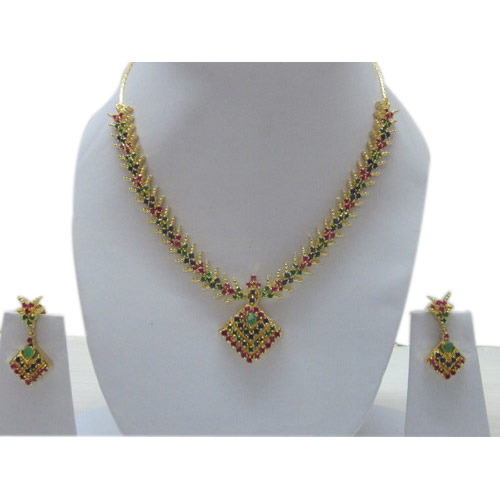 Gold Necklace Multi Stones Gold Necklace Manufacturer
