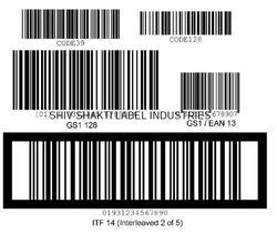 Self Adhesive Barcode Printed Labels