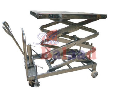 Hydraulic Lift Table - Manual Lift Table with Wheel