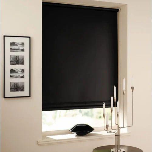 Fiber Black Roller Blinds For Window Rs 120 Roll Design Decor Id 7415589148
