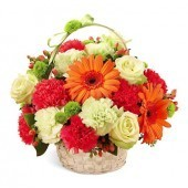 Exotic Flowers Basket