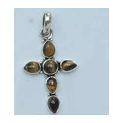 Tiger Eye Cross Pendant