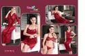 Satin Maroon Kuukee 1851 Micro 8 Piece Ladies Night Wear, Size: Large
