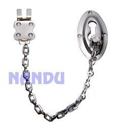 M S Oval Door Chain Chrome