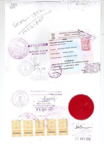 Bachelorhood Certificate/Single Status Certificate Apostille in ...