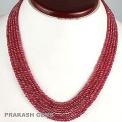 Ruby Beaded Necklaces