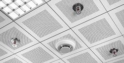Sprinkler System Under False Celling