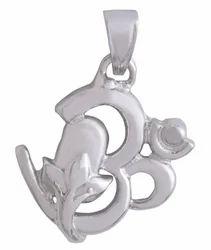 925 Silver God Pendant Om Shiva