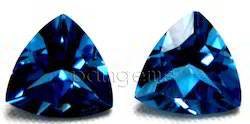 Swiss Blue Topaz Faceted Trillion Gemstone