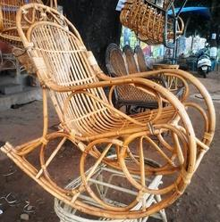 Solid Cane Rocking Chair