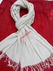 Natural Eri Silk Crinkle Stole