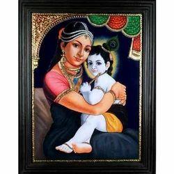 Yashoda Krishna Painting
