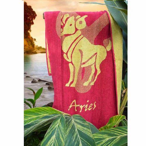 Aries Sunsign Towel, Magenta